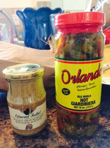 The mustard and Giardiniera I bought this week at Gene's