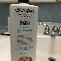 Plastic dog shampoo
