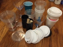 Plastic lids and cups